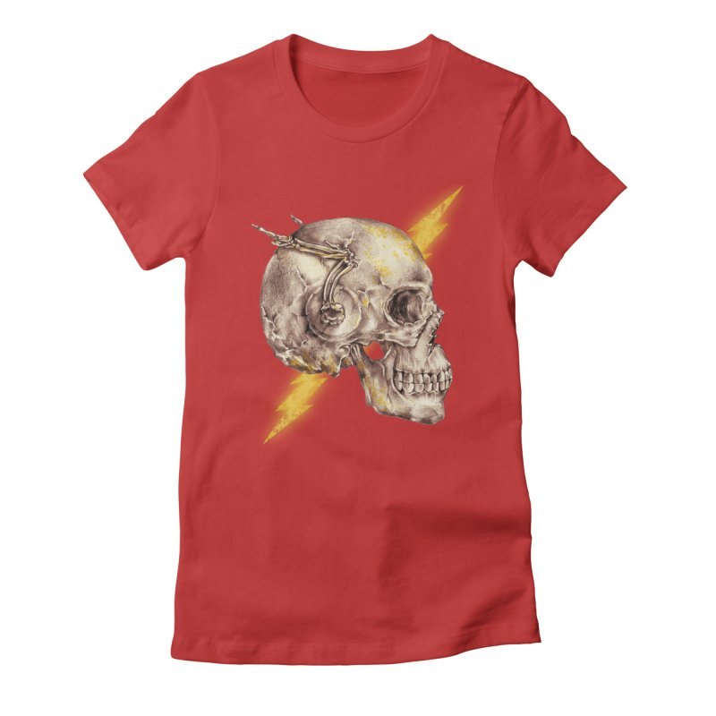 Flash Women's Fitted T-Shirt by alanmaia's Artist Shop