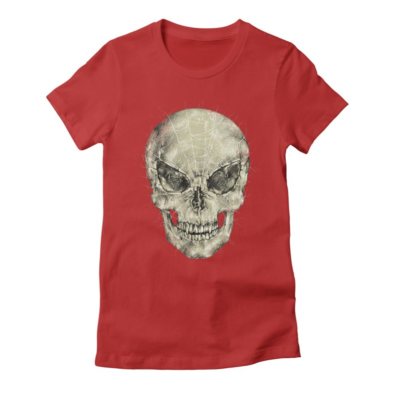 Spider Forever Women's Fitted T-Shirt by alanmaia's Artist Shop