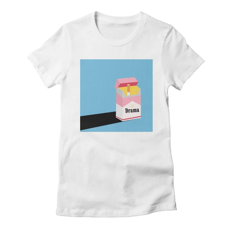 drama Women's Fitted T-Shirt by albablazquez's Artist Shop