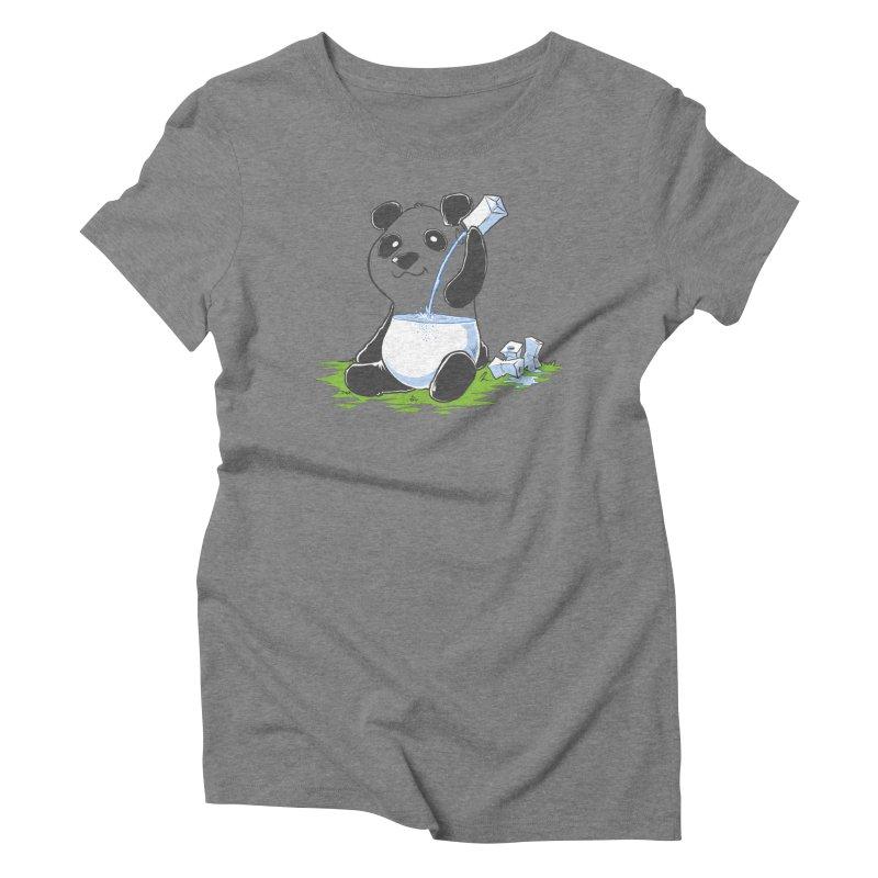 Panda in my FILLings Women's Triblend T-Shirt by Alberto Arni's Artist Shop