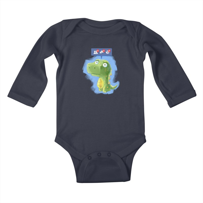 Extinct Friends Kids Baby Longsleeve Bodysuit by Alberto Arni's Artist Shop