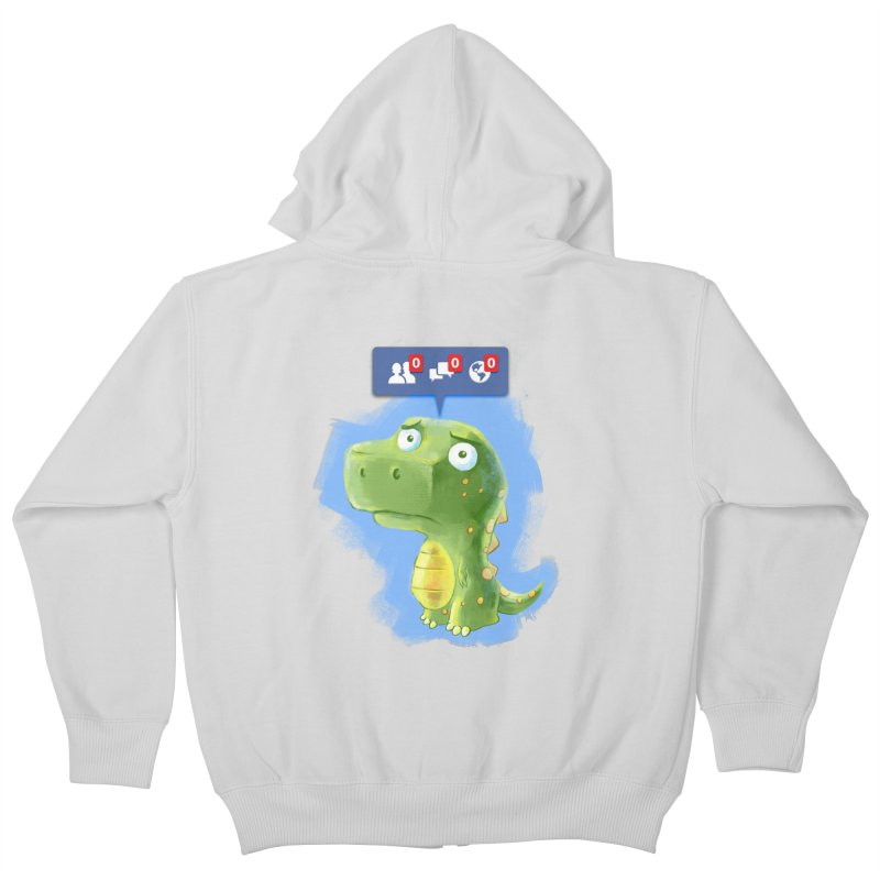 Extinct Friends Kids Zip-Up Hoody by Alberto Arni's Artist Shop