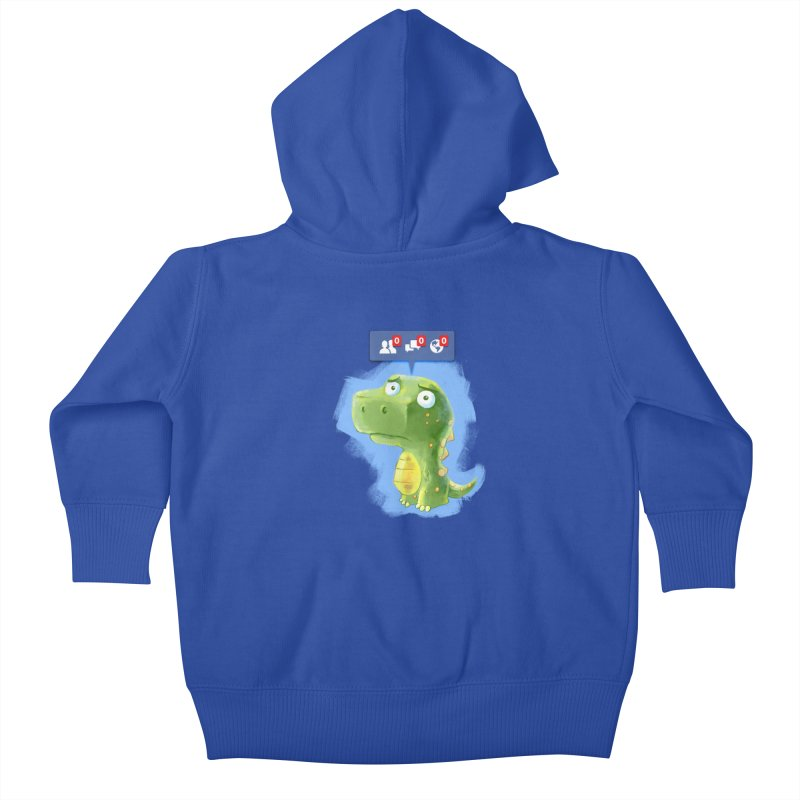 Extinct Friends Kids Baby Zip-Up Hoody by Alberto Arni's Artist Shop