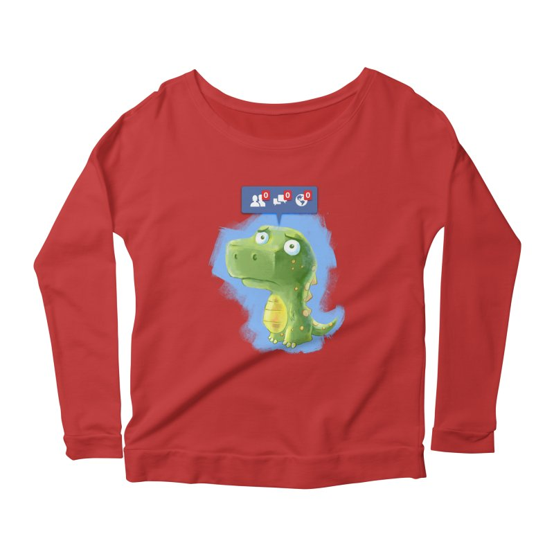 Extinct Friends Women's Longsleeve Scoopneck  by Alberto Arni's Artist Shop