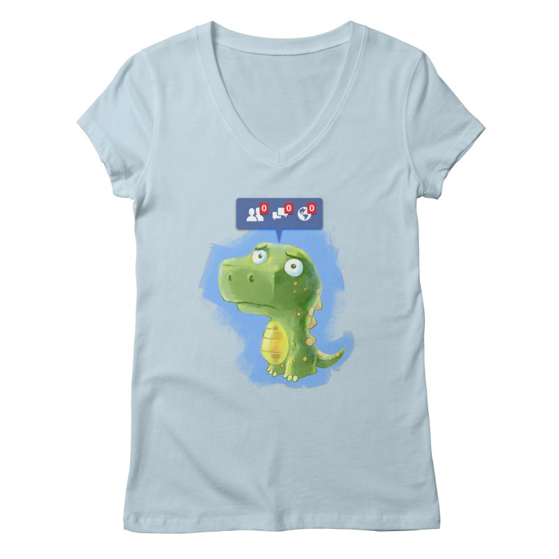 Extinct Friends Women's V-Neck by Alberto Arni's Artist Shop