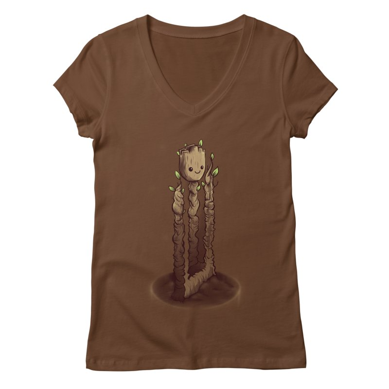 Impossible Root Women's V-Neck by Alberto Arni's Artist Shop