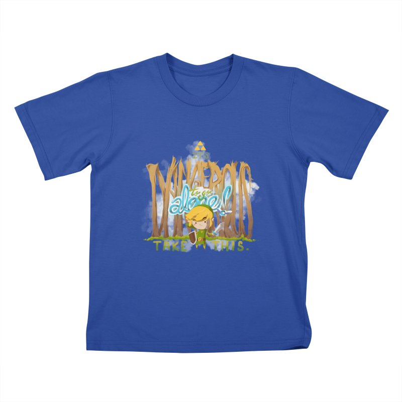 It's Dangerous To Go Alone Kids T-shirt by Alberto Arni's Artist Shop