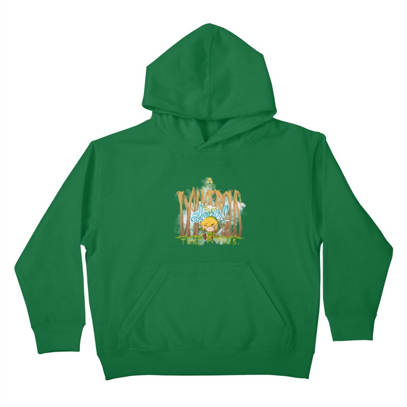 It's Dangerous To Go Alone Kids Pullover Hoody by Alberto Arni's Artist Shop