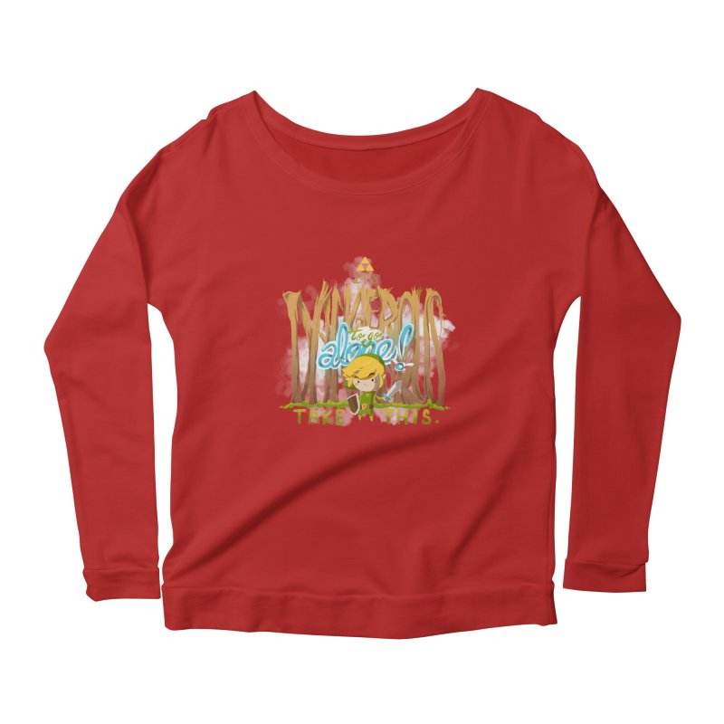 It's Dangerous To Go Alone Women's Longsleeve Scoopneck  by Alberto Arni's Artist Shop