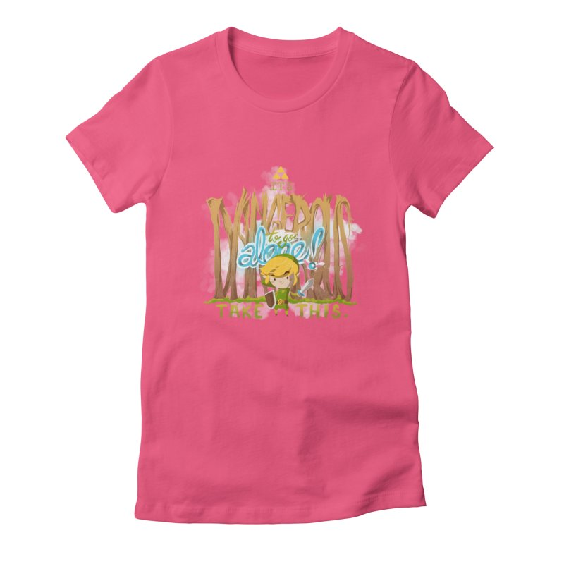 It's Dangerous To Go Alone Women's Fitted T-Shirt by Alberto Arni's Artist Shop