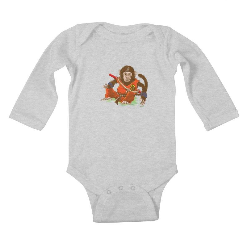 Kakarotto Kids Baby Longsleeve Bodysuit by Alberto Arni's Artist Shop