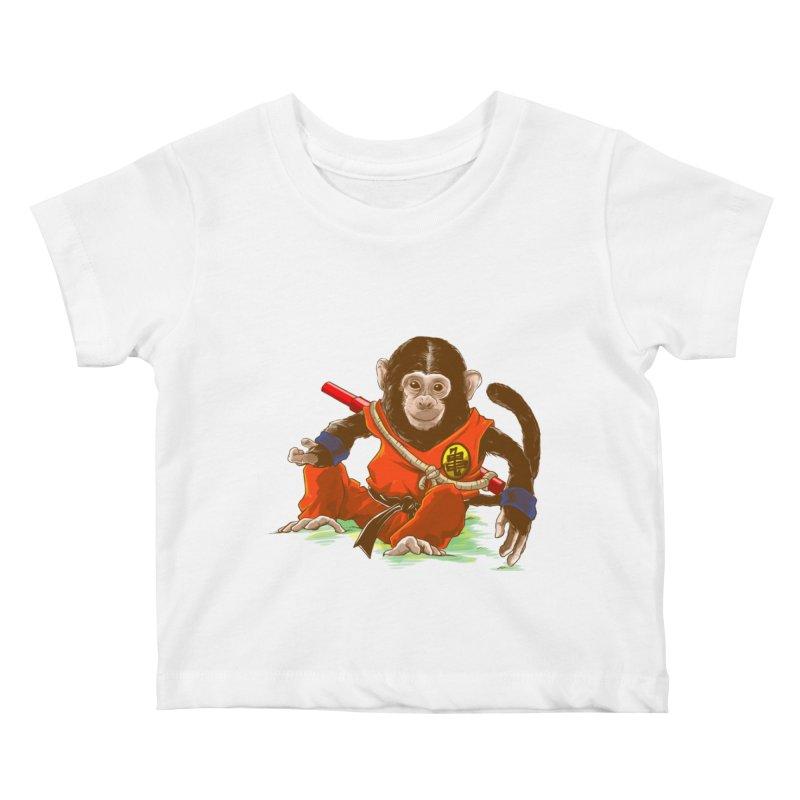 Kakarotto Kids Baby T-Shirt by Alberto Arni's Artist Shop