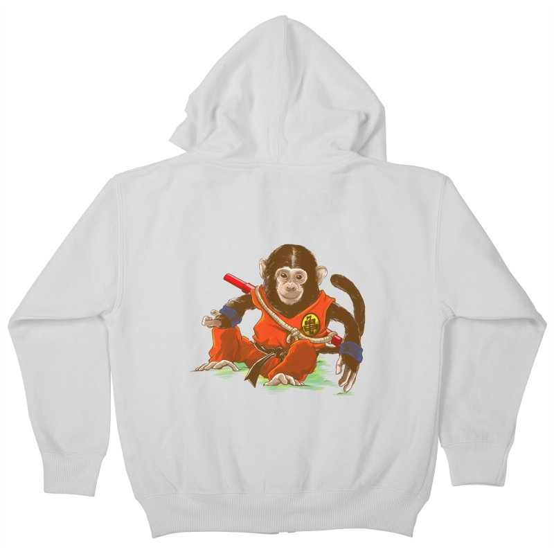Kakarotto Kids Zip-Up Hoody by Alberto Arni's Artist Shop