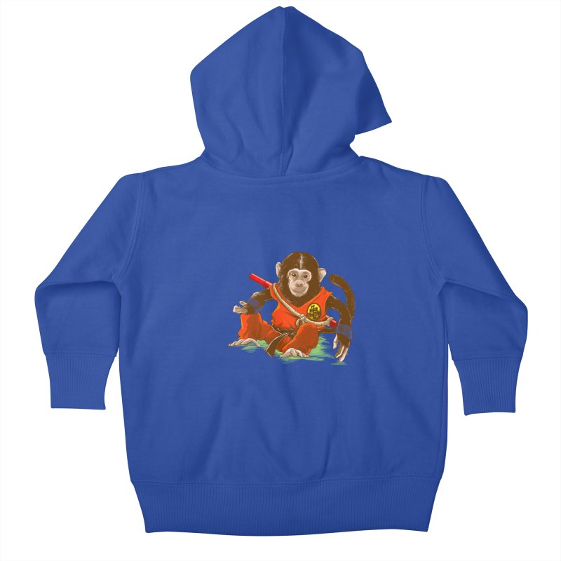 Kakarotto Kids Baby Zip-Up Hoody by Alberto Arni's Artist Shop