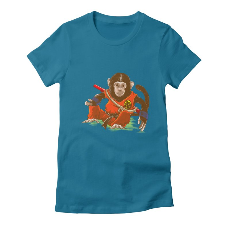 Kakarotto Women's Fitted T-Shirt by Alberto Arni's Artist Shop