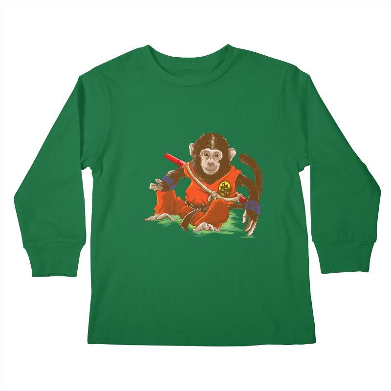 Kakarotto Kids Longsleeve T-Shirt by Alberto Arni's Artist Shop