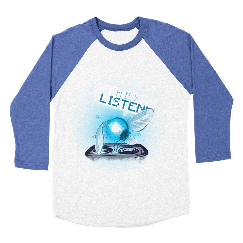 Hey Listen! Women's Baseball Triblend T-Shirt by Alberto Arni's Artist Shop