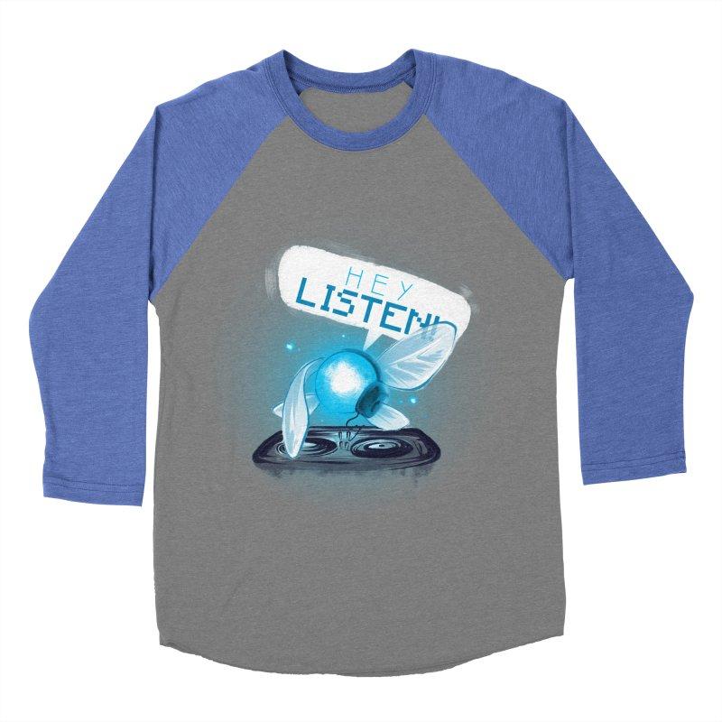 Hey Listen! Men's Baseball Triblend T-Shirt by Alberto Arni's Artist Shop