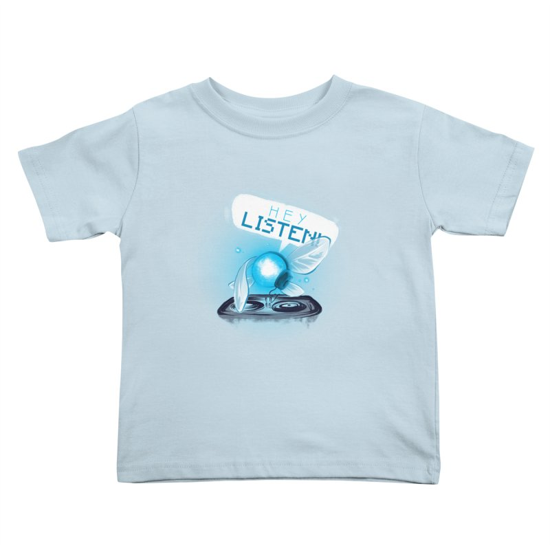 Hey Listen! Kids Toddler T-Shirt by Alberto Arni's Artist Shop