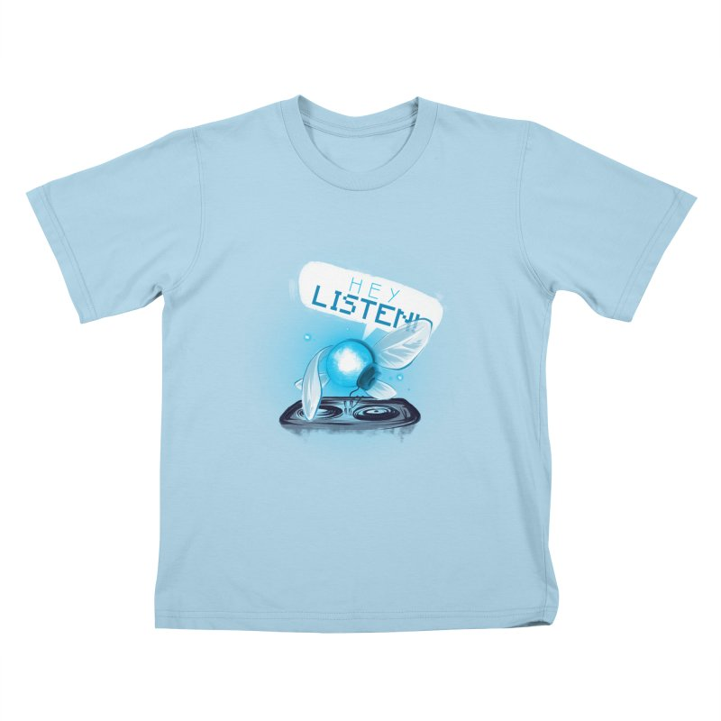 Hey Listen! Kids T-Shirt by Alberto Arni's Artist Shop