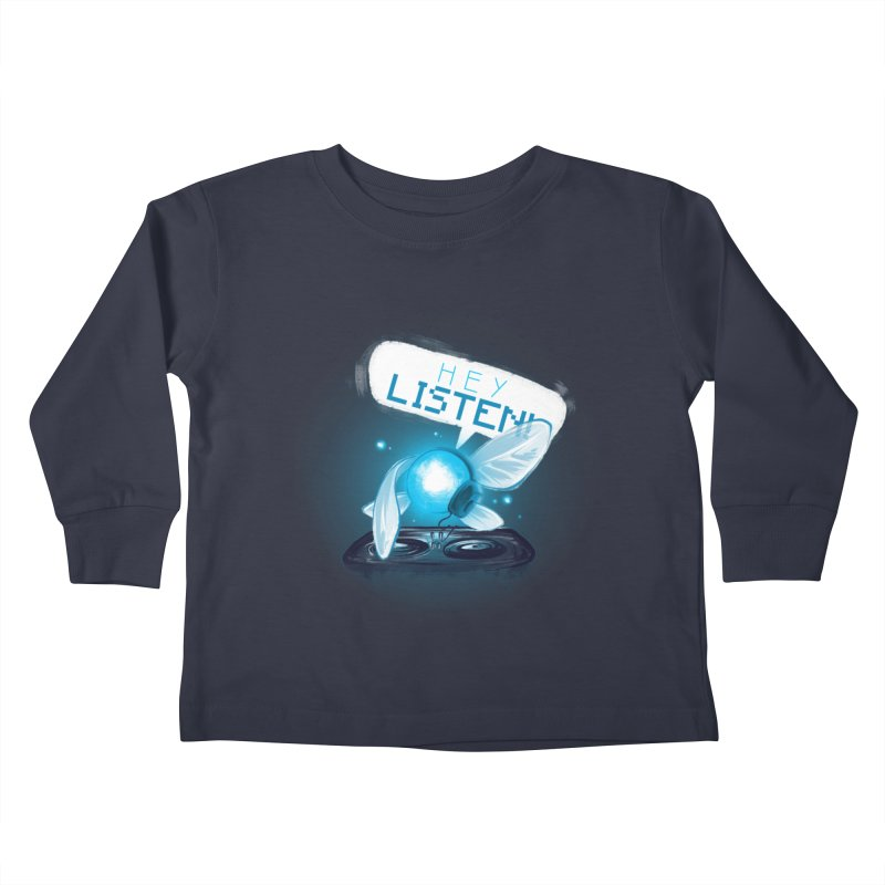 Hey Listen! Kids Toddler Longsleeve T-Shirt by Alberto Arni's Artist Shop