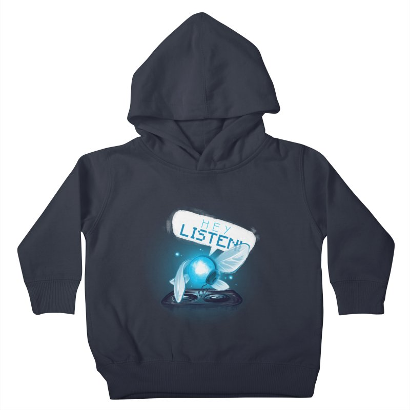Hey Listen! Kids Toddler Pullover Hoody by Alberto Arni's Artist Shop