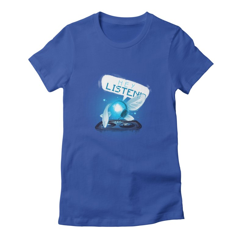 Hey Listen! Women's Fitted T-Shirt by Alberto Arni's Artist Shop