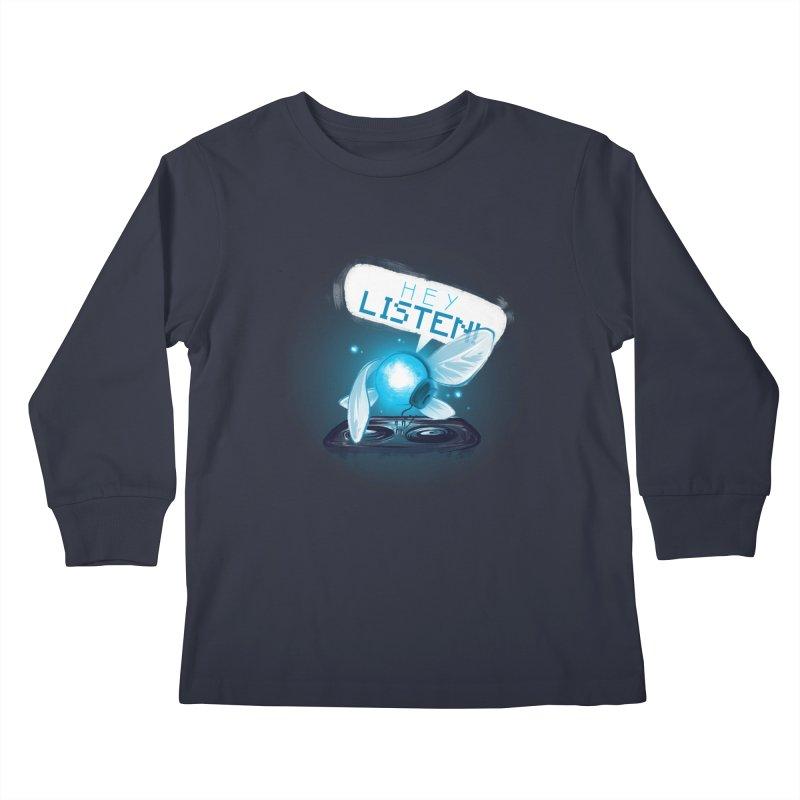 Hey Listen! Kids Longsleeve T-Shirt by Alberto Arni's Artist Shop