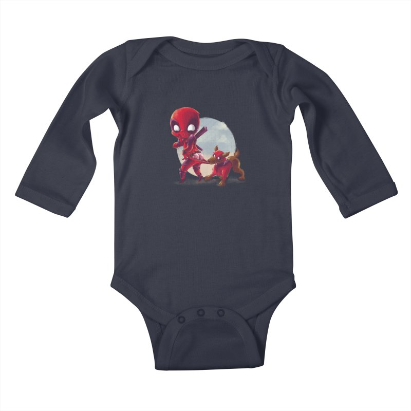 Copperpool Kids Baby Longsleeve Bodysuit by Alberto Arni's Artist Shop