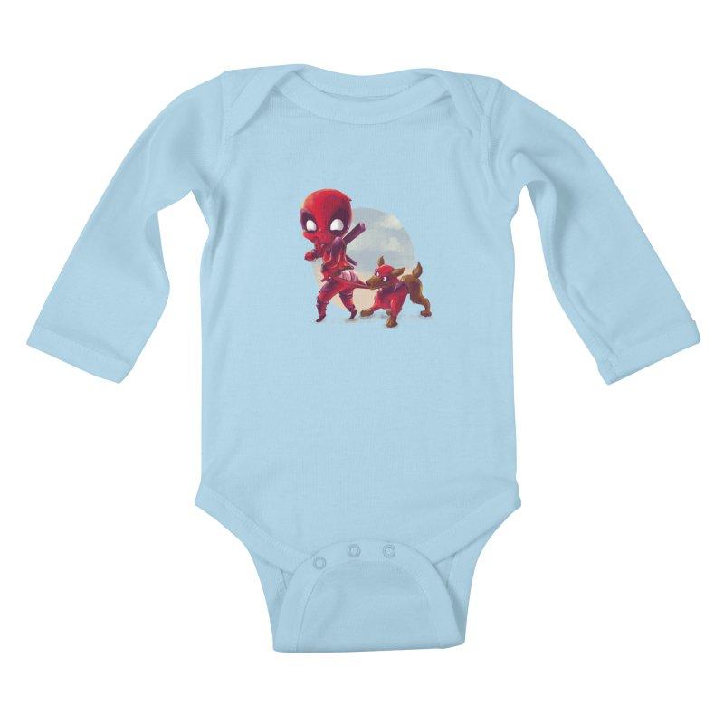Copperpool Kids Baby Longsleeve Bodysuit by Alberto Arni's Artist Shop