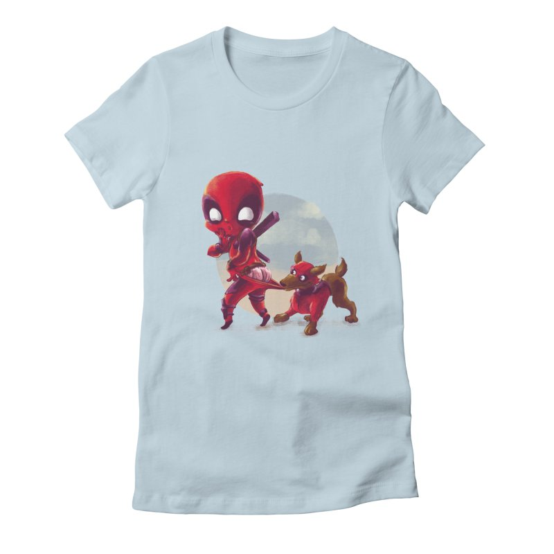 Copperpool Women's Fitted T-Shirt by Alberto Arni's Artist Shop