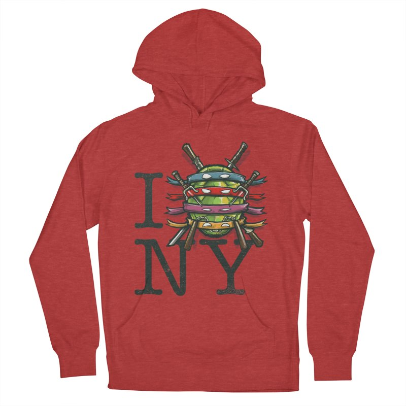 I (Turtle) NY Women's Pullover Hoody by Alberto Arni's Artist Shop