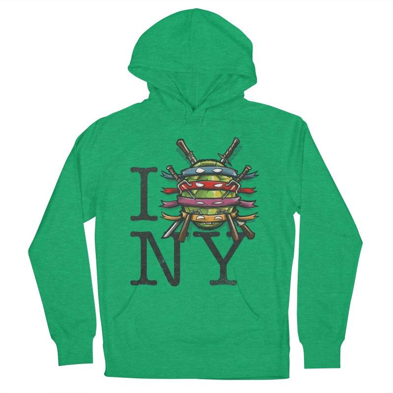 I (Turtle) NY Men's Pullover Hoody by Alberto Arni's Artist Shop