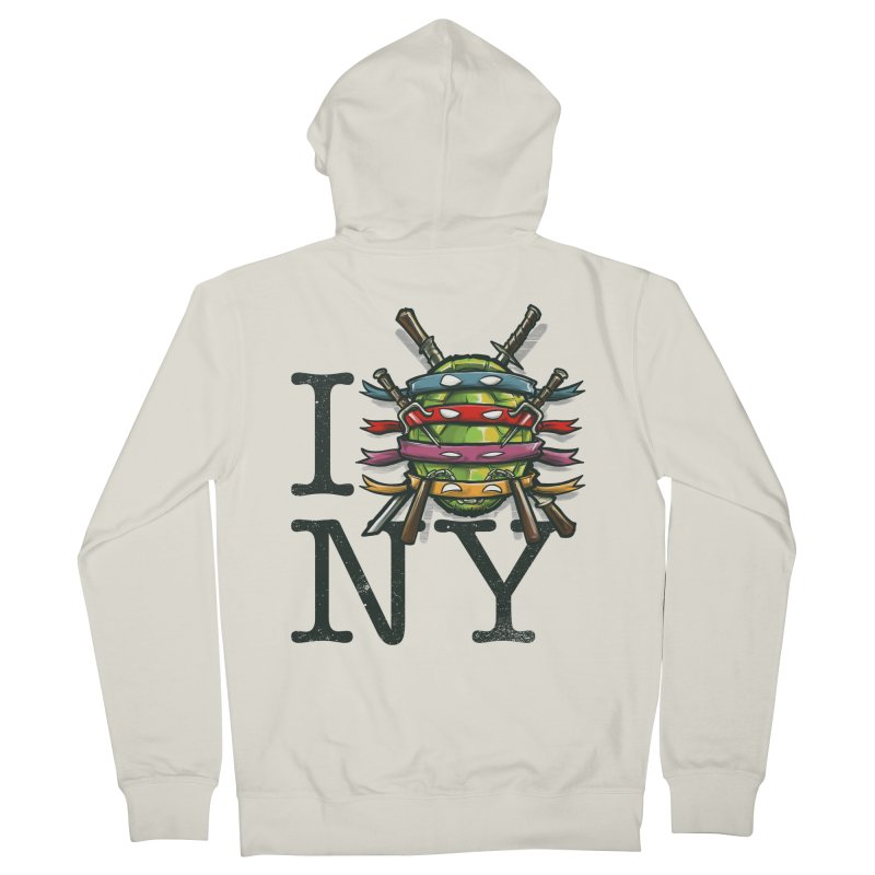 I (Turtle) NY Women's Zip-Up Hoody by Alberto Arni's Artist Shop