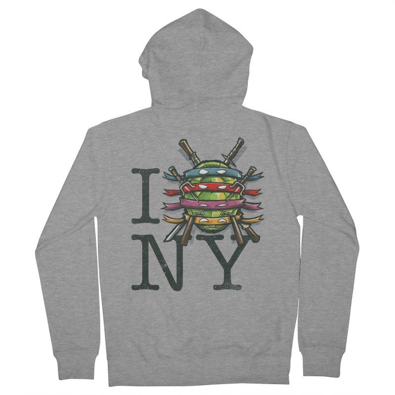I (Turtle) NY Men's Zip-Up Hoody by Alberto Arni's Artist Shop