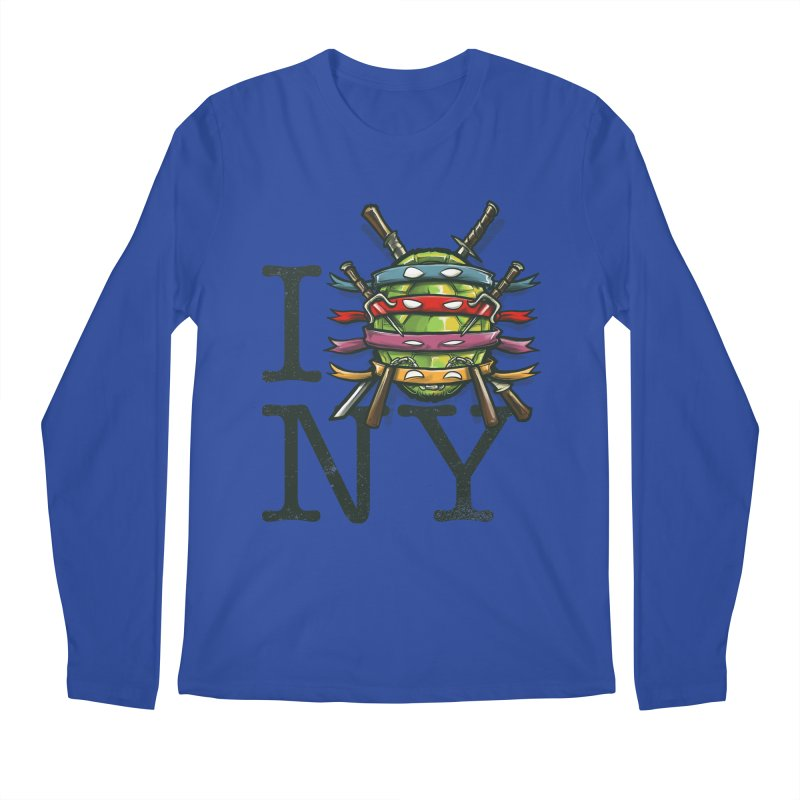 I (Turtle) NY Men's Longsleeve T-Shirt by Alberto Arni's Artist Shop