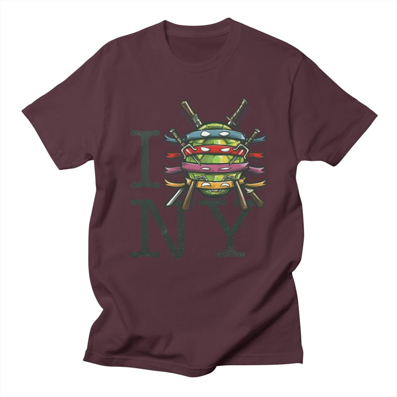 I (Turtle) NY Men's T-shirt by Alberto Arni's Artist Shop