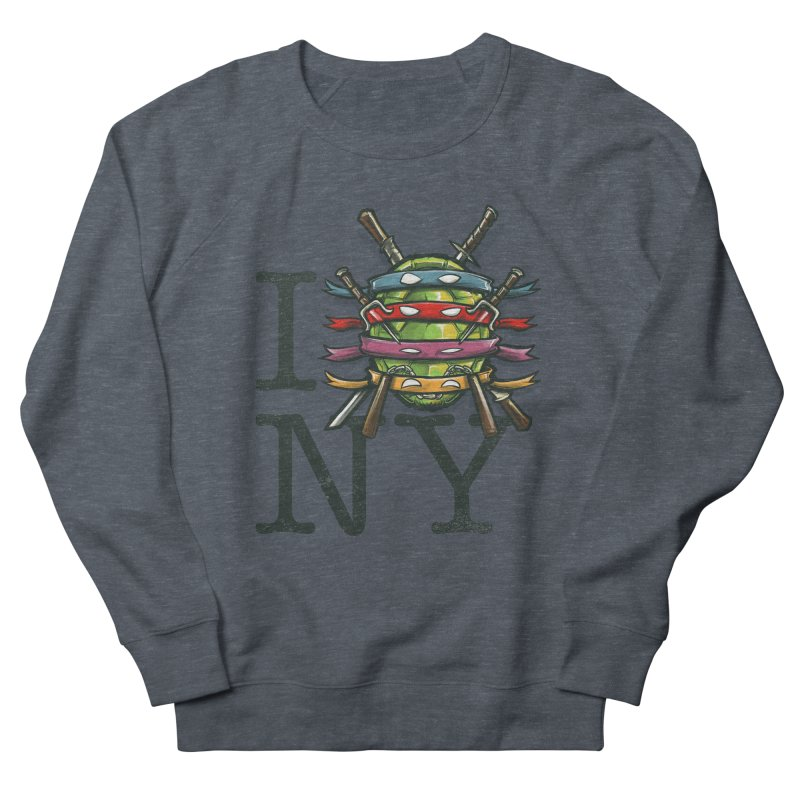 I (Turtle) NY Men's Sweatshirt by Alberto Arni's Artist Shop