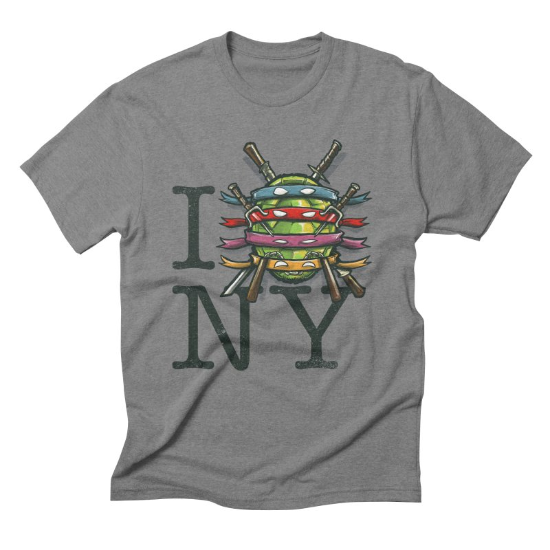 I (Turtle) NY Men's Triblend T-Shirt by Alberto Arni's Artist Shop