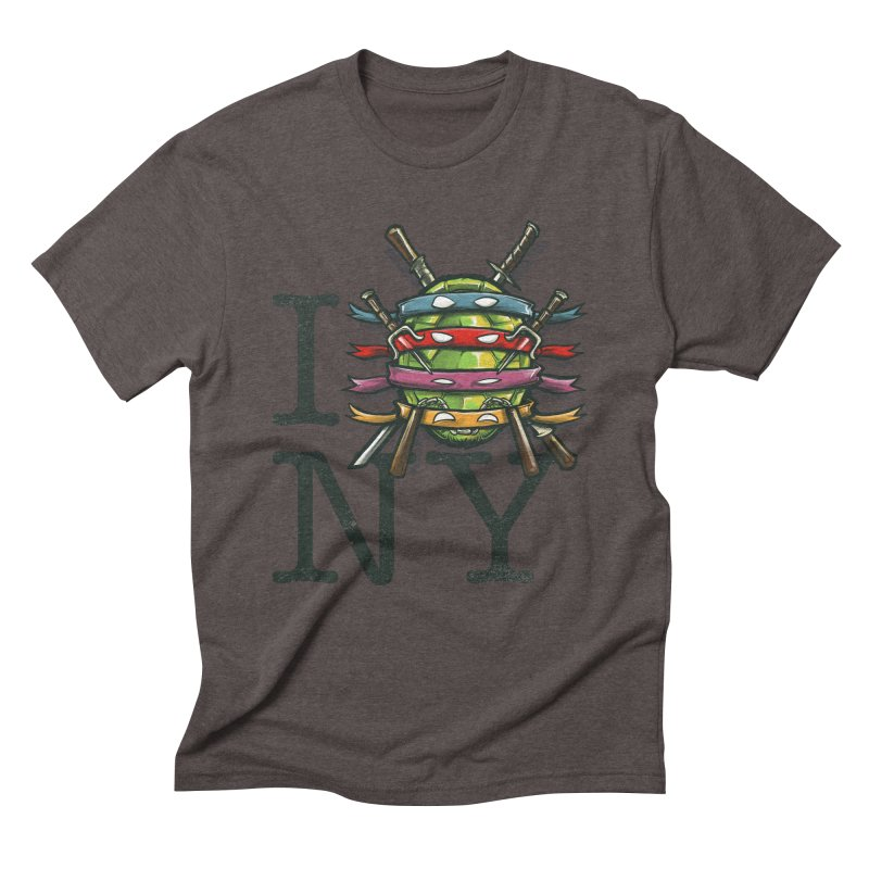 I (Turtle) NY Men's Triblend T-Shirt by Alberto Arni's Artist Shop