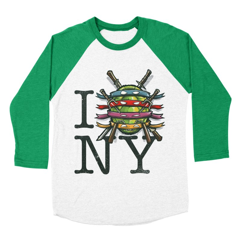 I (Turtle) NY Women's Baseball Triblend T-Shirt by Alberto Arni's Artist Shop