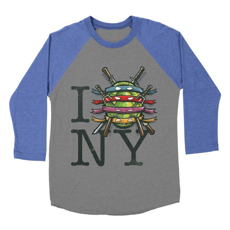 I (Turtle) NY Women's Baseball Triblend T-Shirt by Alberto Arni's Artist Shop