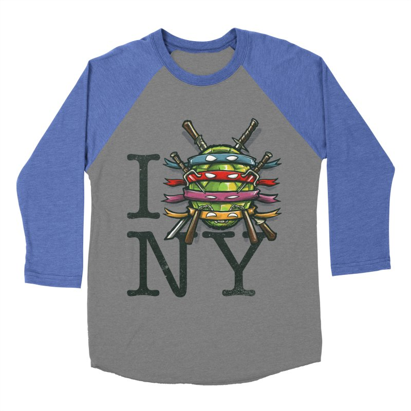 I (Turtle) NY Men's Baseball Triblend T-Shirt by Alberto Arni's Artist Shop