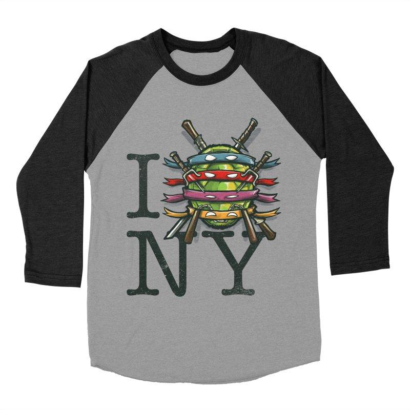 I (Turtle) NY Men's Baseball Triblend T-Shirt by Alberto Arni's Artist Shop