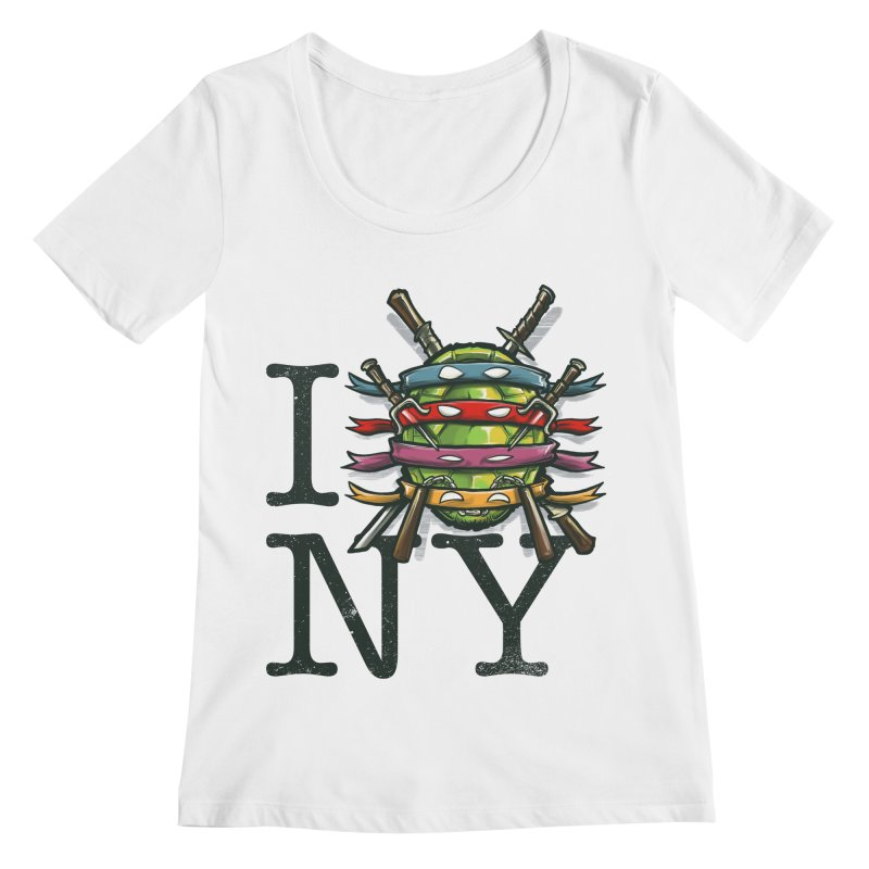 I (Turtle) NY Women's Scoopneck by Alberto Arni's Artist Shop