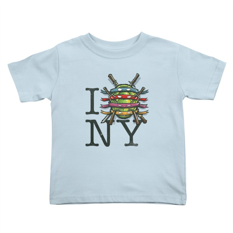 I (Turtle) NY Kids Toddler T-Shirt by Alberto Arni's Artist Shop