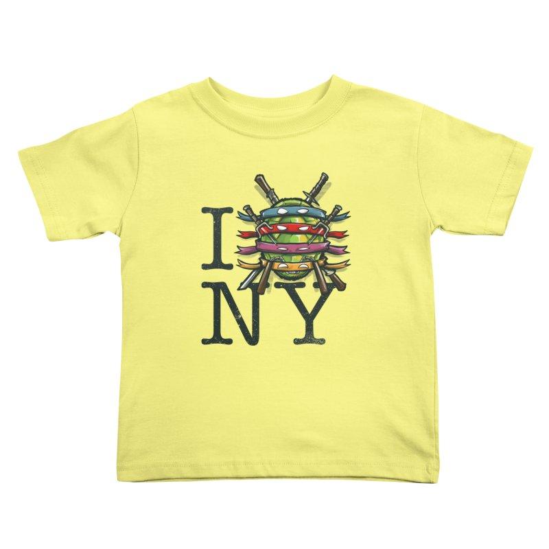 I (Turtle) NY Kids Toddler T-Shirt by Alberto Arni's Artist Shop