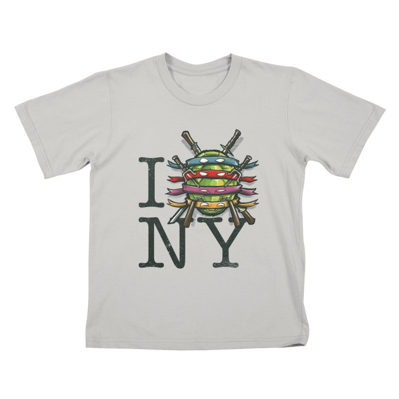 I (Turtle) NY Kids T-Shirt by Alberto Arni's Artist Shop