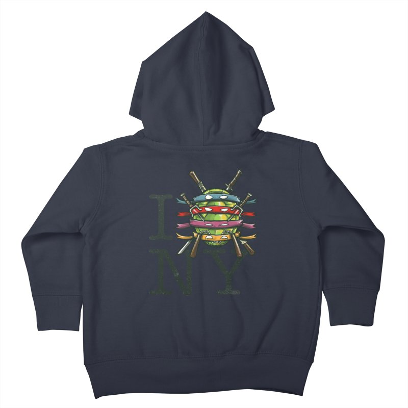 I (Turtle) NY Kids Toddler Zip-Up Hoody by Alberto Arni's Artist Shop