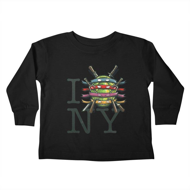 I (Turtle) NY Kids Toddler Longsleeve T-Shirt by Alberto Arni's Artist Shop